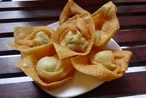 membuat siomay kulit pangsit cara membuat pangsit goreng renyah di rumah sipendik