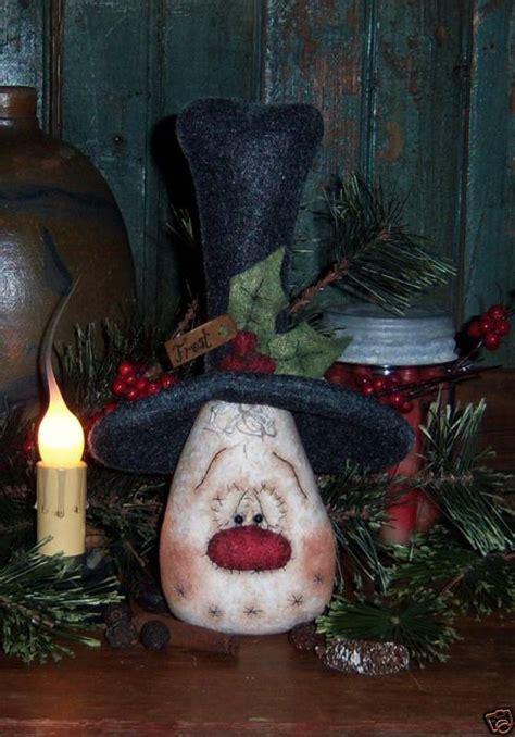 primitive snowman christmas frosty doll pattern 542 ebay