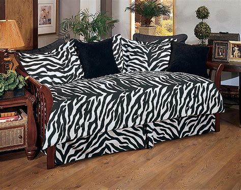 Black And White Daybed Bedding Sets Kimlor Black White Zebra Daybed Set Animal Print Bedding For Daybeds Blanket Warehouse