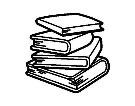 libros para colorear 2 libros para colorear dibujo de pila de libros para colorear dibujos net
