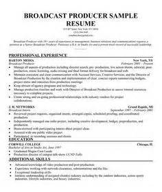 Sports Producer Sle Resume by 1000 Images About Producer Resume On Free Resume Sles Resume Exles And Resume