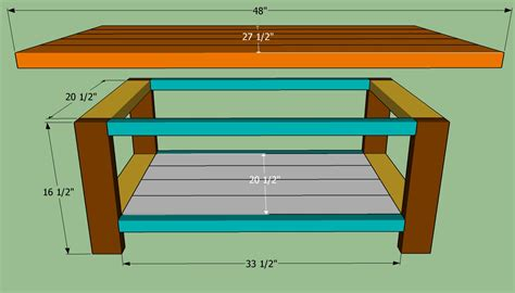 How To Build A Simple Coffee Table How To Build A Coffee Table Howtospecialist How To Build Step By Step Diy Plans