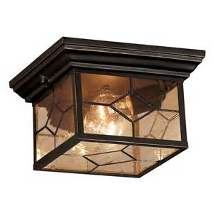 Exterior Ceiling Lights Shop Portfolio Litshire 9 05 In W Rubbed Bronze Outdoor Flush Mount Light At Lowes