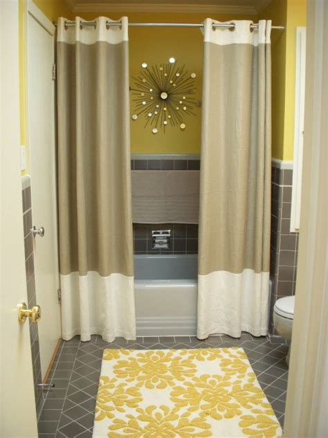bathroom with shower curtains ideas mr kate design idea double shower curtains