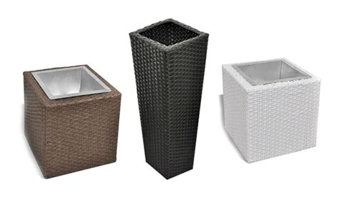 vasi in rattan set di vasi fioriere in rattan groupon goods