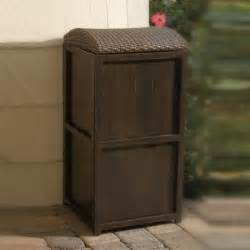 Patio Trash Cans Outdoor by All Weather Wicker 21 Gallon Trash Can Contemporary