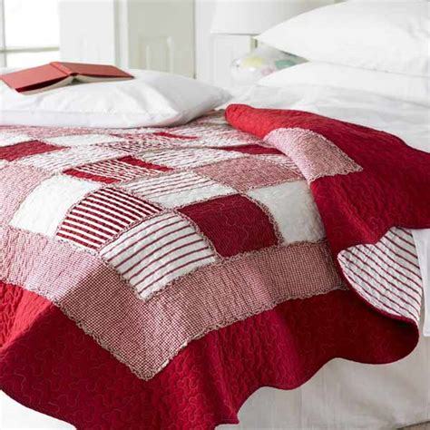 Quilted Duvet Cover King Red White Check Bedding Bedding Sets Amp Collections
