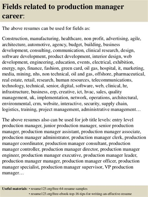 Resume Product Manager Pharmaceutical Top 8 Production Manager Resume Sles