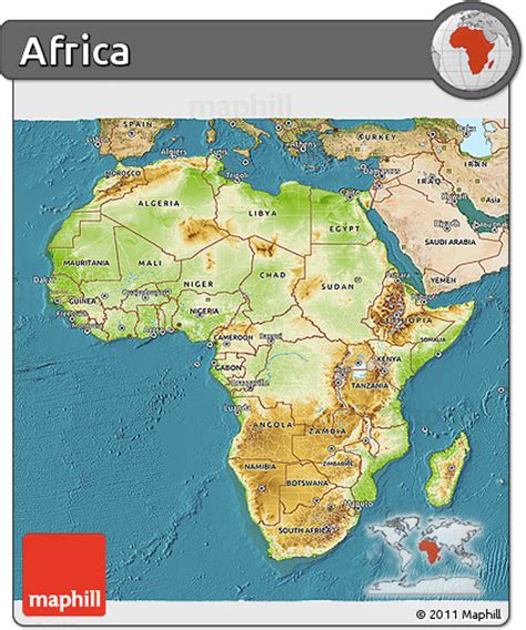 africa map 3d free physical 3d map of africa satellite outside