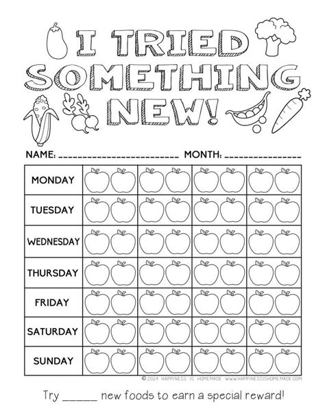 printable coloring pages healthy habits printable healthy chart coloring pages