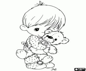teddy bear in pajamas coloring page precious moments coloring pages printable games
