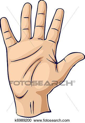 clipart mano clipart mano sollevata in un mano aperta gesto