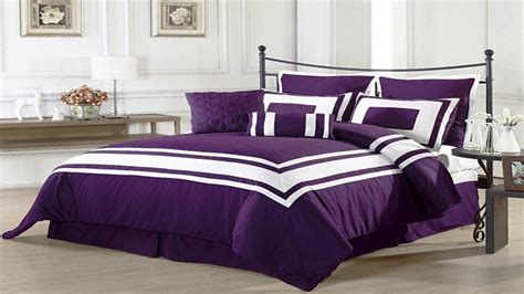 black and purple comforter sets purple and grey bedding