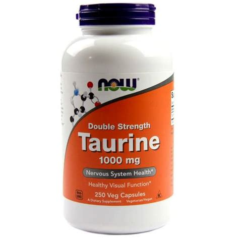Taurine Detox by Now Foods Taurine 1000 Mg 250 Caps Evitamins