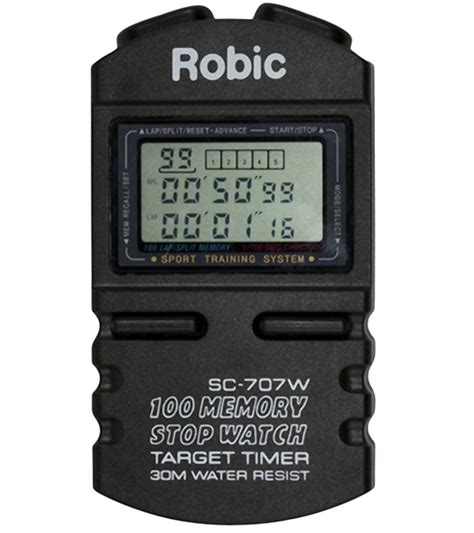 Finis 100 Memory Stopwatch robic sc 707w 100 dual memory chronograph stopwatch at