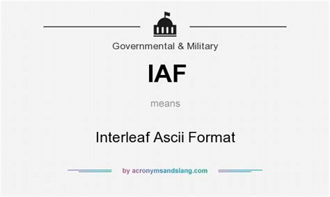 html format means iaf interleaf ascii format in governmental military by