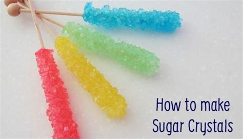 how to make sugar crystals on a stick sugar crystals