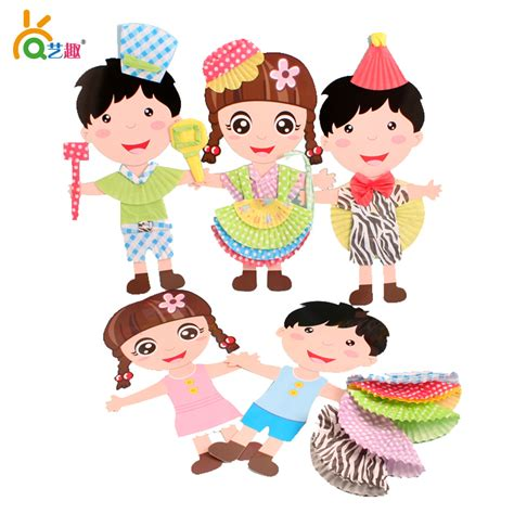 Paper Dolls Craft - aliexpress buy 6 pcs children handmade color paper