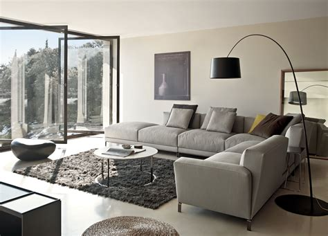 Modern Minimalist Living Room Design With Grey L Shaped Living Room With Gray Sofa