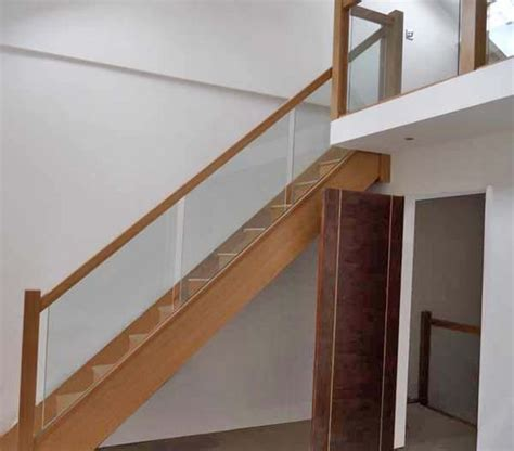 stair banister glass oak staircase with glass balustrade house ideas
