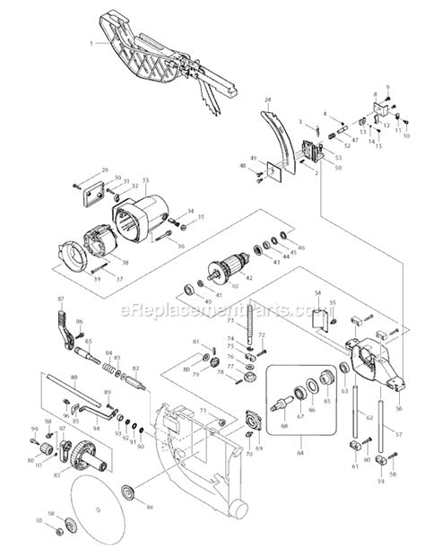 makita 2705 parts list and diagram ereplacementparts