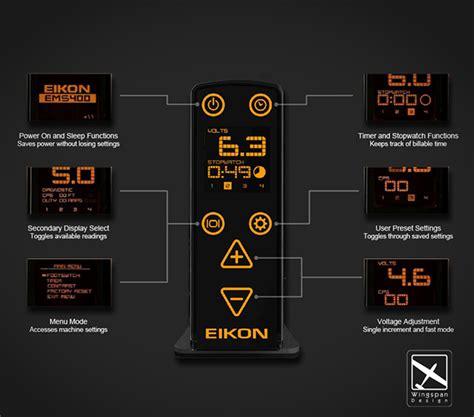 eikon tattoo power supply eikon ems400 power supply on behance