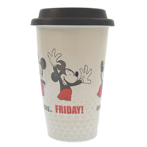 Disney Ceramic Mickey Mouse Travel Mug - your wdw store disney ceramic travel mug mickey monday