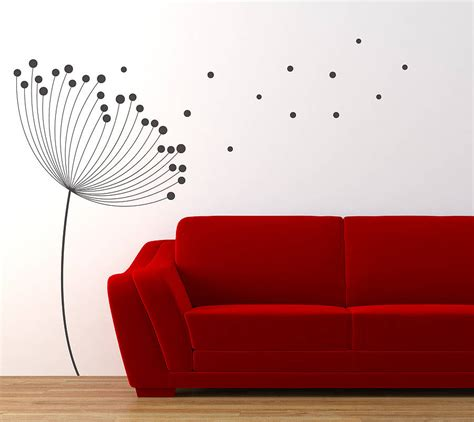 dandelion wall sticker dandelion wall sticker by nutmeg notonthehighstreet