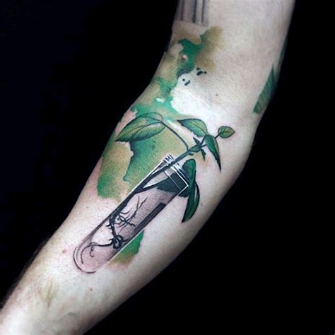 watercolor tattoos for guys 22 plant designs