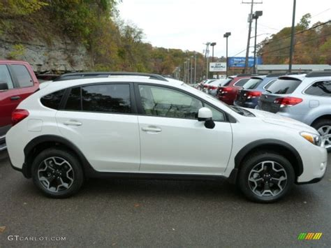 white subaru crosstrek satin white pearl 2014 subaru crosstrek 2 0i limited