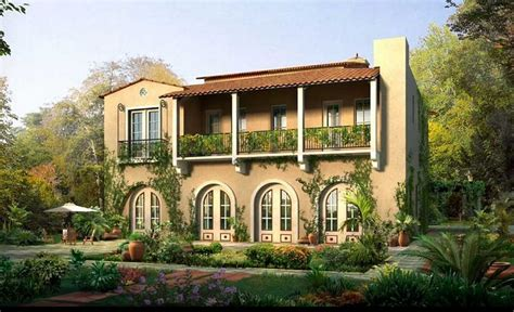 villa style homes spanish villa style homes with dark cream wall theme ideas