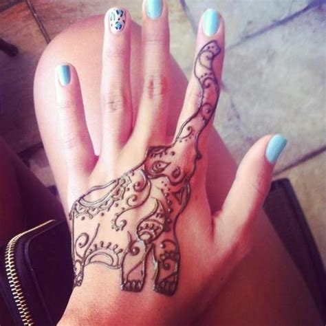 elephant henna tattoo on hand elephant henna henna