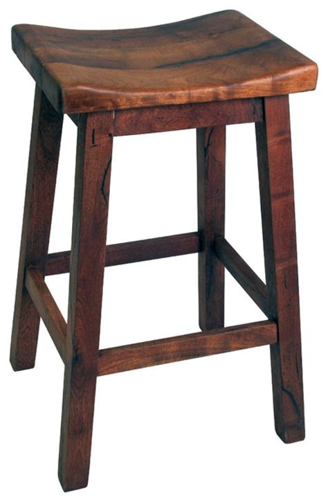 Saddle Seat Bar Stool Mesquite Saddle Seat Bar Stool Rustic Bar Stools And Counter Stools By Direct