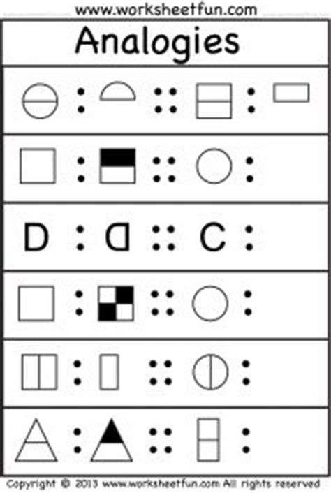 Skills Worksheet Critical Thinking Analogies Answers by Analogies 4 Worksheets Free Printable Worksheets
