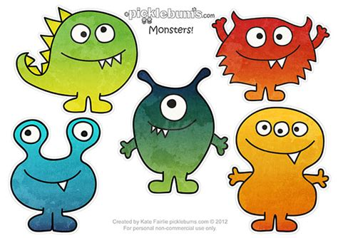 monsters free free printables for my scaredy boy picklebums
