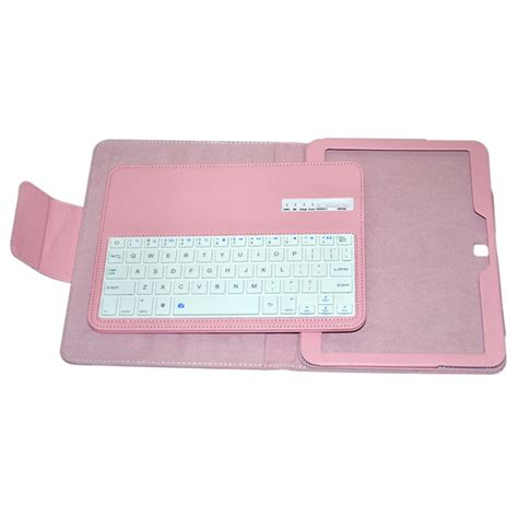 Samsung Tab V3 wireless bluetooth v3 0 78 key keyboard w pu leather for samsung galaxy tab 3 p5200 pink