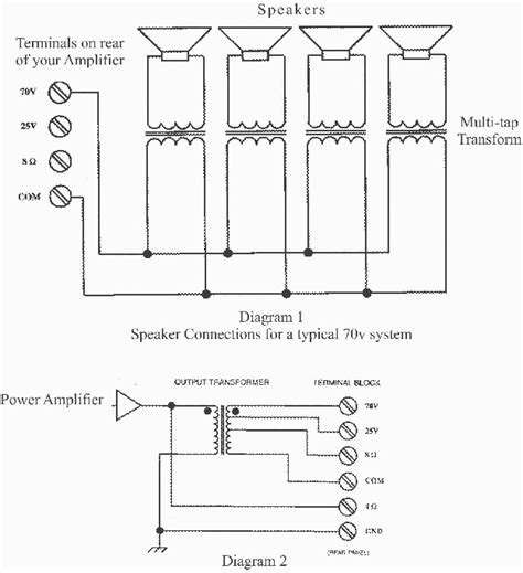 70 volt speaker systems wiring diagram get free image