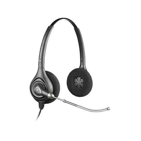 Headset Plus Microphone plantronics hw261 supra plus binaural headset with voice microphone