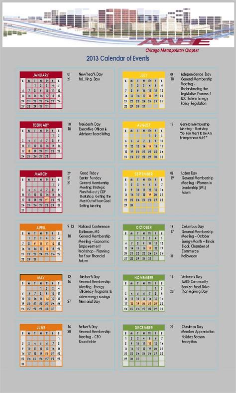 Chicago Calendar Chicago Calendar Of Events Calendar Template 2016