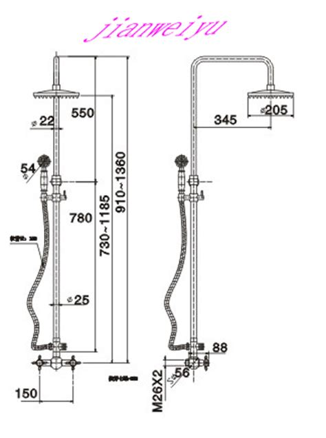 Shower Valve Height From Floor by 47