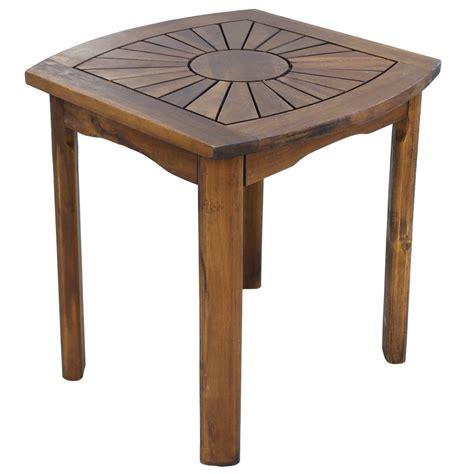 20 inch square table acacia 20 inch sunburst square patio table in patio side