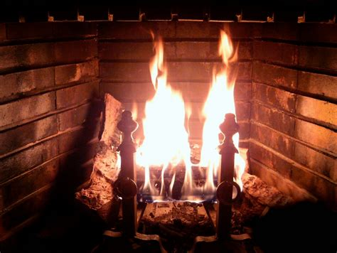 Picture Of Fireplaces by File Fireplace Burning Jpg