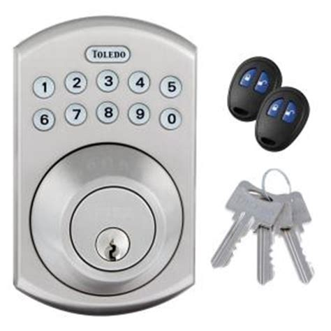 Home Depot Electronic Lock by Toledo Locks Stainless Steel Electronic Deadbolt With