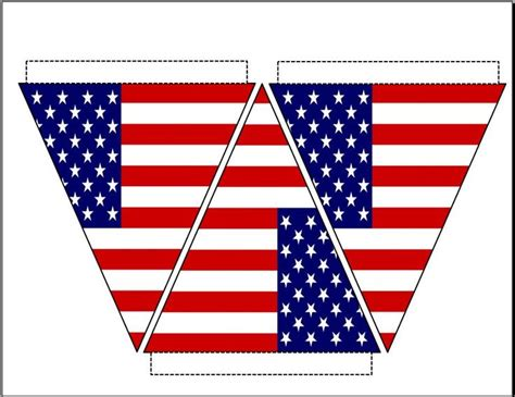 printable bunting flag pin by sally israel on 4th of july pinterest