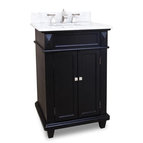 Bathroom With Black Vanity 24 Quot Jupiter Single Bath Vanity Black