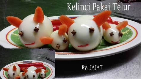 youtube membuat garnish cara membuat garnish kelinci dari telur garnish nasi