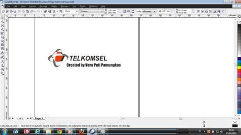 membuat gambar watermark di corel vera putri a membuat logo telkomsel dengan corel draw