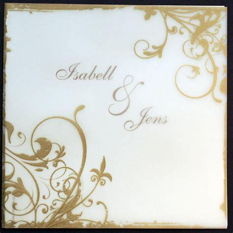 Einladungskarte Goldene Hochzeit by Einladungskarte Pr720820 Goldene Hochzeit Ornamente