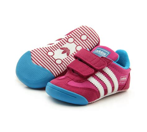 new adidas learn 2 walk infants baby pink soft shoes trainers 4 9 ebay