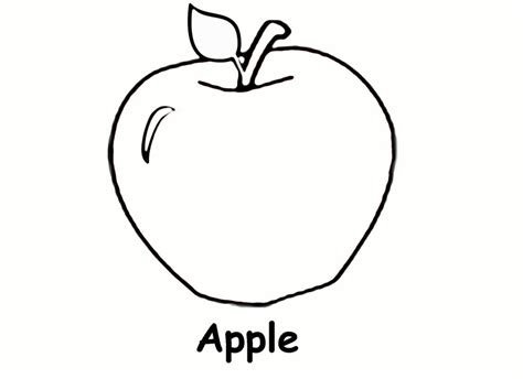 Preschool Apple Coloring Pages free apple tree coloring pages